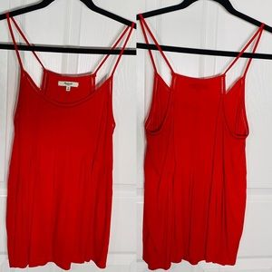 Madewell Red Tank Blouse Top Sz M